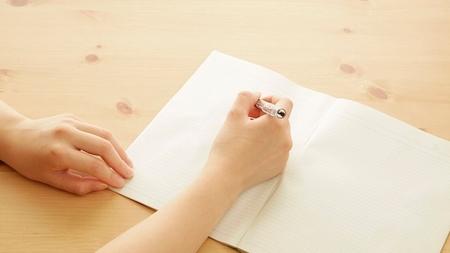 出産後のストレスをノートに書きだす