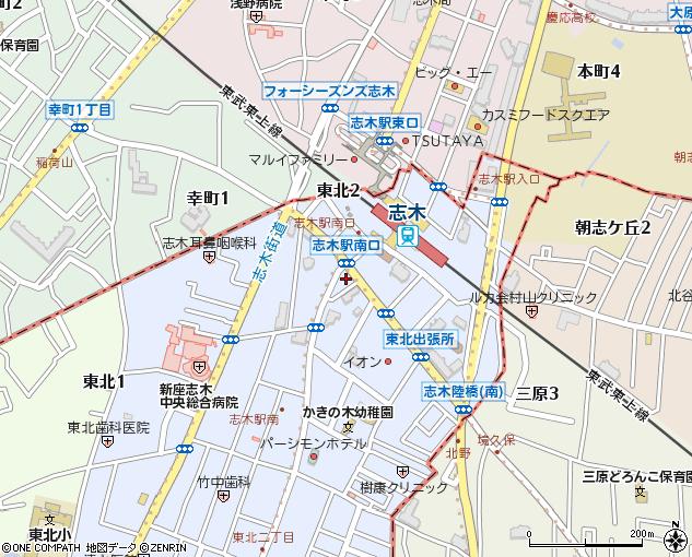 イタリアントマト志木南口店地図