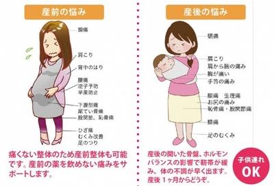 産後の様々な症状