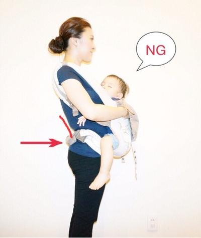 ママさんの腰に負担がかからない赤ちゃんの抱っこの仕方