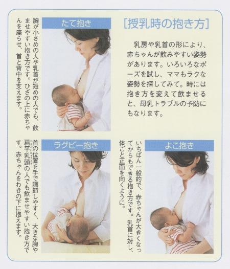授乳中の抱き方の工夫