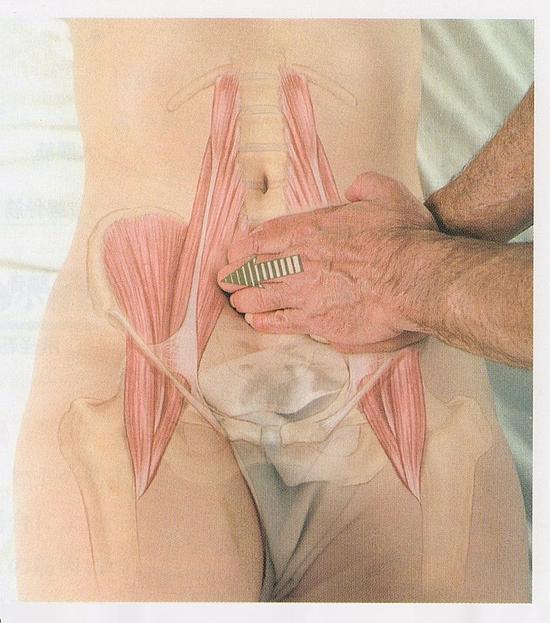 腸腰筋のマッサージ4