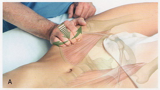 腸腰筋のマッサージ、ほぐし方1