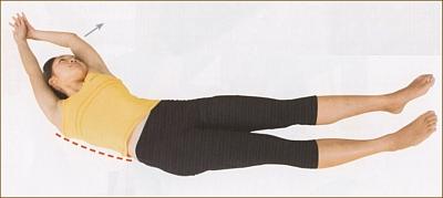 体の横側を伸ばすストレッチ
