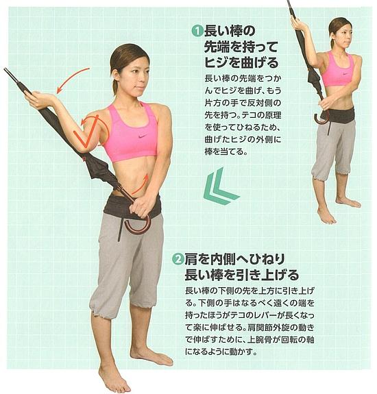 肩甲下筋のストレッチ
