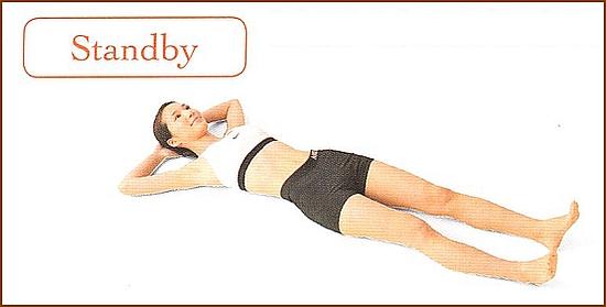 産後のウエストストレッチ1