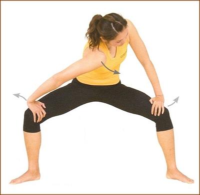 股関節と一緒に伸ばす腰のストレッチ