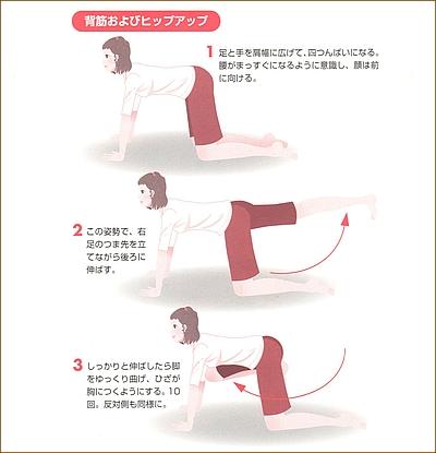 背中のダイエット運動2