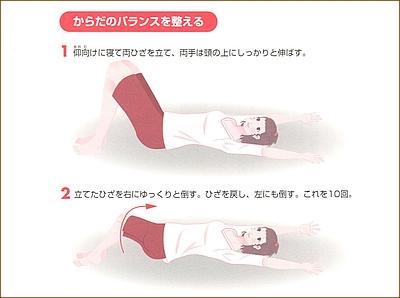 背中のダイエット運動3