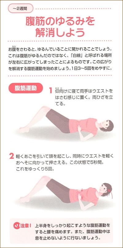 産後の腹筋運動1