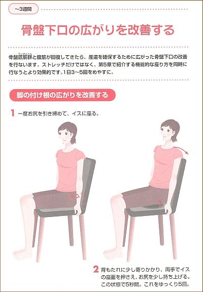 産後の腹筋運動3