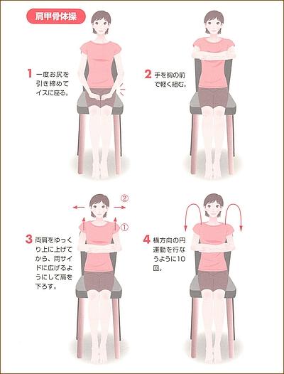 産後の肩こり、背中の改善体操・運動