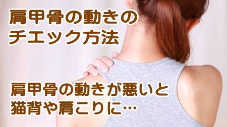 肩甲骨のゆがみの背中のコリ、肩コリや首の痛みのチェック方法