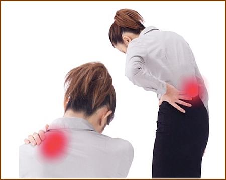 普段の生活の中で骨盤の歪みや背骨が歪んで肩こり腰痛