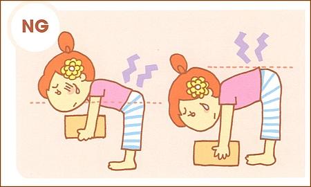膝を使った正しい持ち上げ方をすると、持ち上げる前後で腰の角度はほとんど変わりません