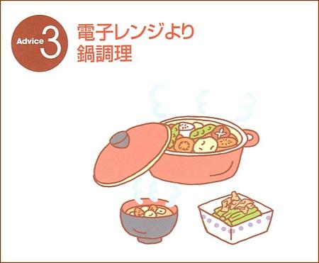 電子レンジより鍋料理で摂取しましょう