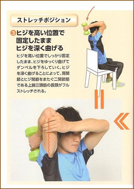 上腕三頭筋のストレッチのバリエーション:その3