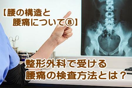 腰の検査方法とは?