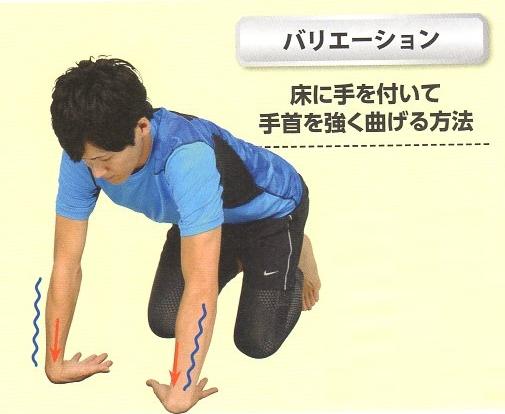 前腕伸筋群のストレッチ⑤