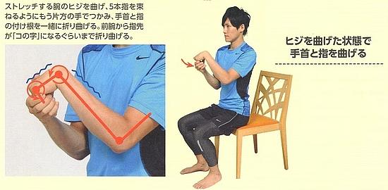 前腕伸筋群のストレッチ8