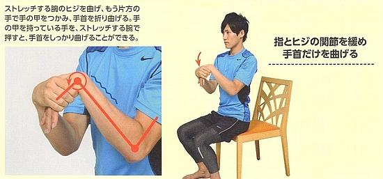 前腕伸筋群のストレッチ9