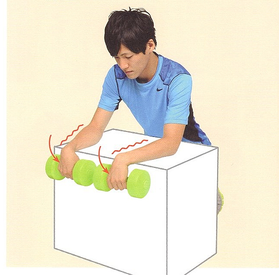 前腕(前腕伸筋群)を鍛える筋トレ方法①-2