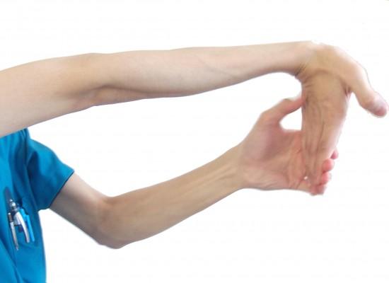 長掌筋のストレッチ