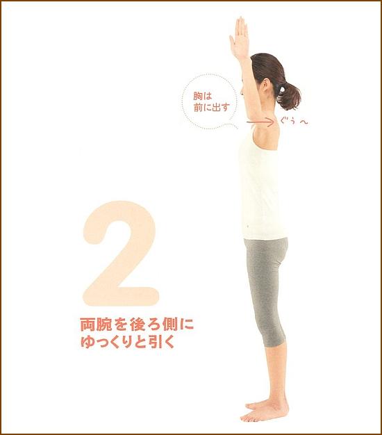 肩甲骨の可動域を広げてすっきりとした肩周りや背中に2