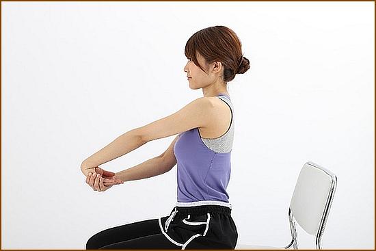 前腕伸筋群(前腕伸筋群)のストレッチ方法