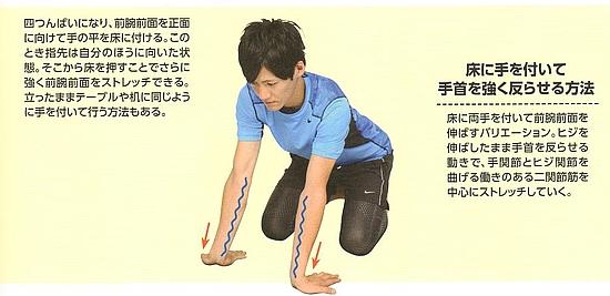 橈側手根屈筋(前腕屈筋群)のストレッチ方法【その3】