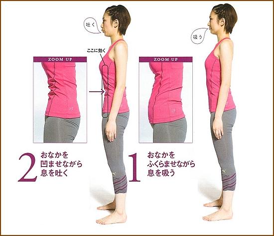 弱った腹筋を強化「腹凹呼吸腹筋」