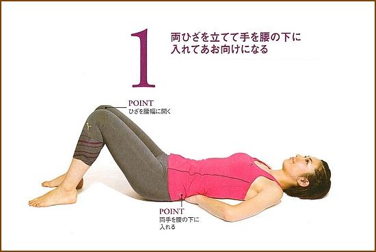 硬いい腰と弱った腹筋をいっぺんに強化「へそ見腹筋 」1
