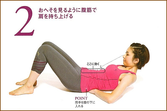 硬いい腰と弱った腹筋をいっぺんに強化「へそ見腹筋 」2