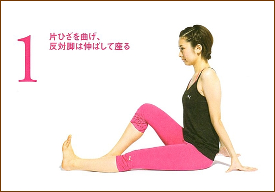 足を持ち上げて腹部の筋肉を強化片足上げ下げ1