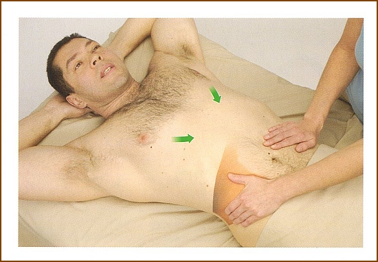 腹横筋の触診方法