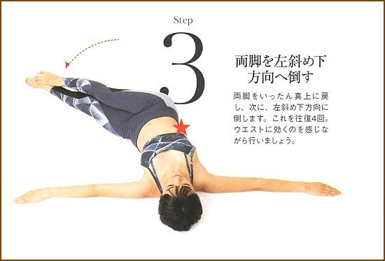 くびれを作り下腹を引き締める筋トレ・レッグツイスト3