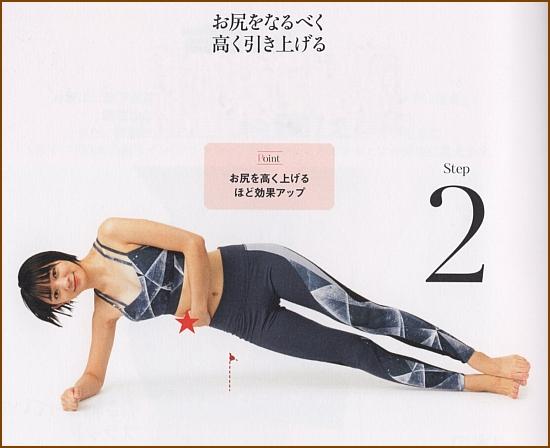 下側の腹斜筋を強化ダイエット・サイドピラーヒップリフト2